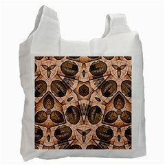 Chocolate Kisses White Reusable Bag (one Side) by OCDesignss