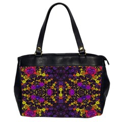 Color Bursts  Oversize Office Handbag (two Sides) by OCDesignss
