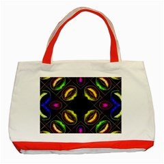 Sassy Neon Lips  Classic Tote Bag (red) by OCDesignss