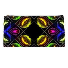 Sassy Neon Lips  Pencil Case by OCDesignss
