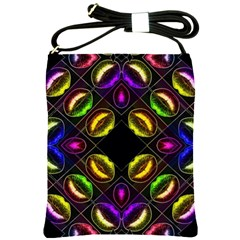 Sassy Neon Lips  Shoulder Sling Bag by OCDesignss