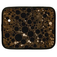 Brown Cream Abstract  Netbook Sleeve (xxl) by OCDesignss