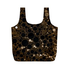 Brown Cream Abstract  Reusable Bag (m)
