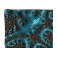 Glossy Turquoise  Cosmetic Bag (xl)