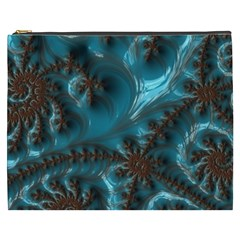 Glossy Turquoise  Cosmetic Bag (xxxl) by OCDesignss