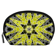 Bright Yellow Black  Accessory Pouch (large) by OCDesignss