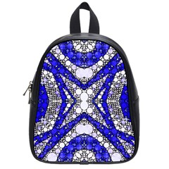 Flashy Bling Blue Silver  School Bag (small)