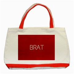 Brat Red Classic Tote Bag (red)