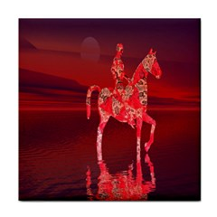 Riding At Dusk Ceramic Tile by icarusismartdesigns