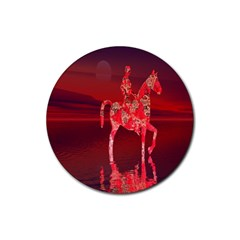 Riding At Dusk Drink Coasters 4 Pack (round)