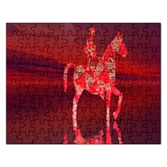 Riding At Dusk Jigsaw Puzzle (rectangle) by icarusismartdesigns
