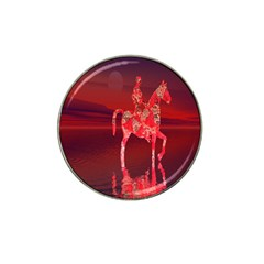 Riding At Dusk Golf Ball Marker (for Hat Clip) by icarusismartdesigns