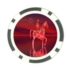 Riding At Dusk Poker Chip by icarusismartdesigns