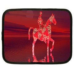 Riding At Dusk Netbook Sleeve (large) by icarusismartdesigns