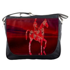 Riding At Dusk Messenger Bag by icarusismartdesigns