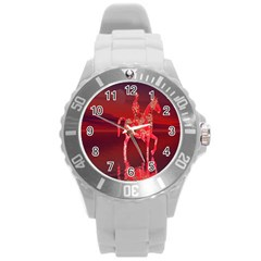Riding At Dusk Plastic Sport Watch (large) by icarusismartdesigns