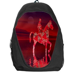 Riding At Dusk Backpack Bag