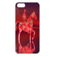 Riding At Dusk Apple Iphone 5 Seamless Case (white) by icarusismartdesigns