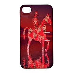 Riding At Dusk Apple Iphone 4/4s Hardshell Case With Stand by icarusismartdesigns