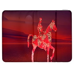 Riding At Dusk Samsung Galaxy Tab 7  P1000 Flip Case by icarusismartdesigns