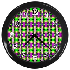 Pattern Wall Clock (black) by Siebenhuehner