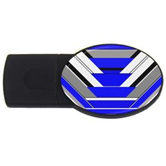 Pattern 2gb Usb Flash Drive (oval)