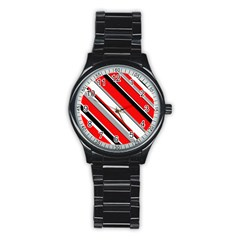Pattern Sport Metal Watch (black) by Siebenhuehner