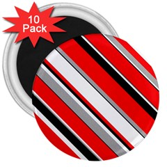 Pattern 3  Button Magnet (10 Pack)