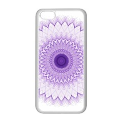 Mandala Apple Iphone 5c Seamless Case (white) by Siebenhuehner