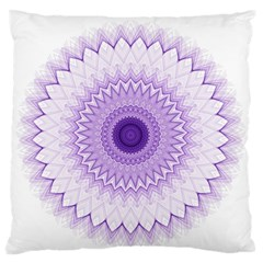 Mandala Standard Flano Cushion Case (one Side) by Siebenhuehner