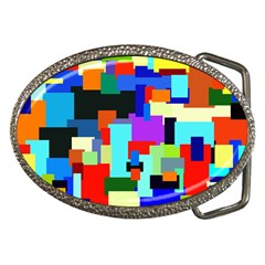 Pattern Belt Buckle (oval) by Siebenhuehner