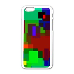 Pattern Apple Iphone 6 White Enamel Case by Siebenhuehner