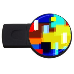 Pattern 4gb Usb Flash Drive (round)