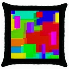 Pattern Black Throw Pillow Case by Siebenhuehner