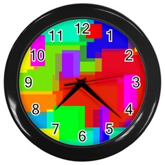 Pattern Wall Clock (black)