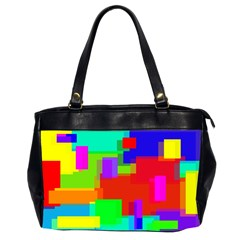 Pattern Oversize Office Handbag (two Sides)