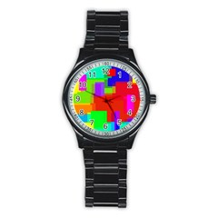Pattern Sport Metal Watch (black)