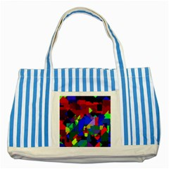 Pattern Blue Striped Tote Bag