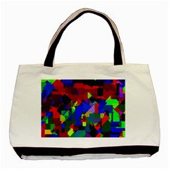 Pattern Twin Sided Black Tote Bag