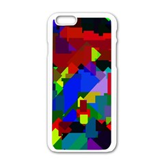 Pattern Apple Iphone 6 White Enamel Case