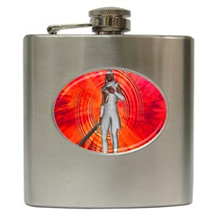 White Knight Hip Flask by icarusismartdesigns