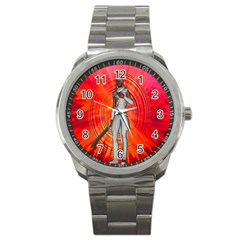 White Knight Sport Metal Watch by icarusismartdesigns
