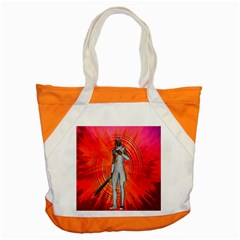 White Knight Accent Tote Bag by icarusismartdesigns
