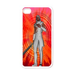 White Knight Apple Iphone 4 Case (white) by icarusismartdesigns