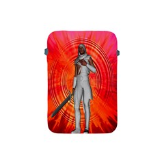 White Knight Apple Ipad Mini Protective Sleeve by icarusismartdesigns