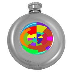 Pattern Hip Flask (round)