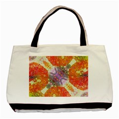 Abstract Lips  Twin Sided Black Tote Bag by OCDesignss