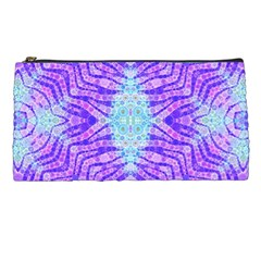 Turquoise Purple Zebra Pattern  Pencil Case by OCDesignss