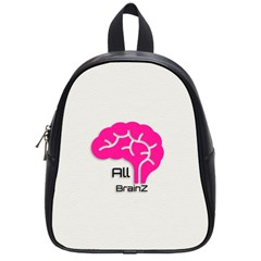 All Brains Leather  School Bag (small) by OCDesignss