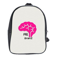All Brains Leather  School Bag (xl) by OCDesignss